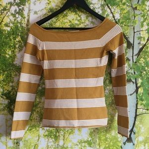 H&M Striped square neck knit top